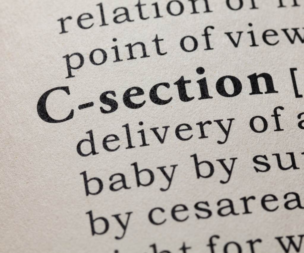 c-section definition in a dictionary