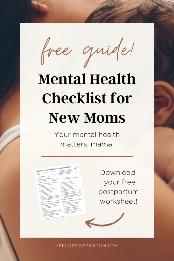 Mental health for moms