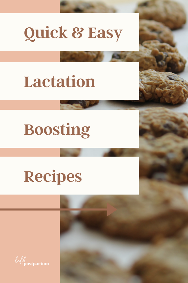 Cookies for lactation