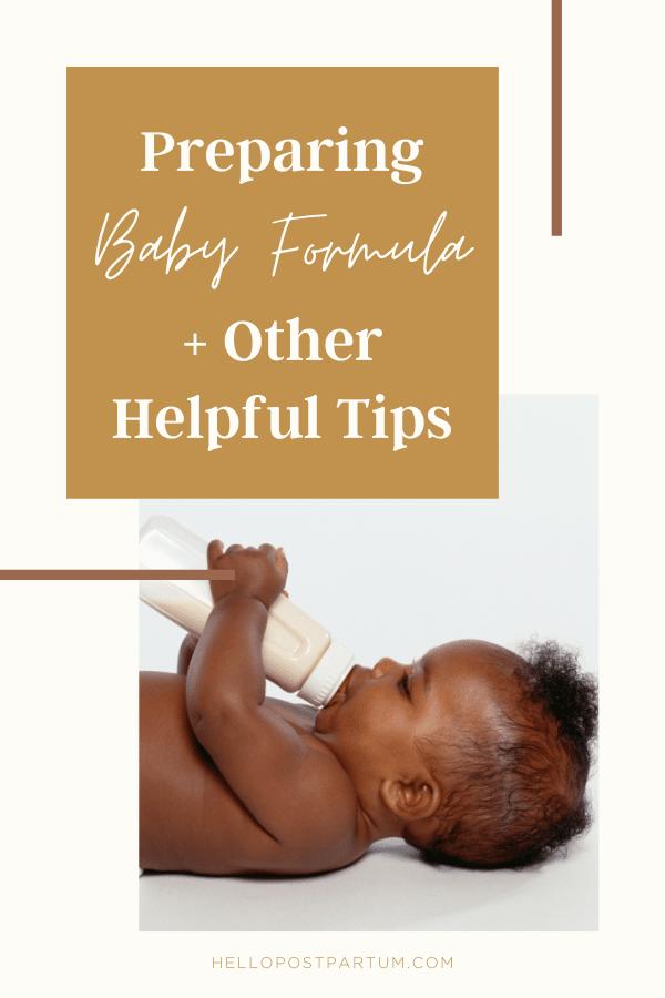 Preparing baby formula