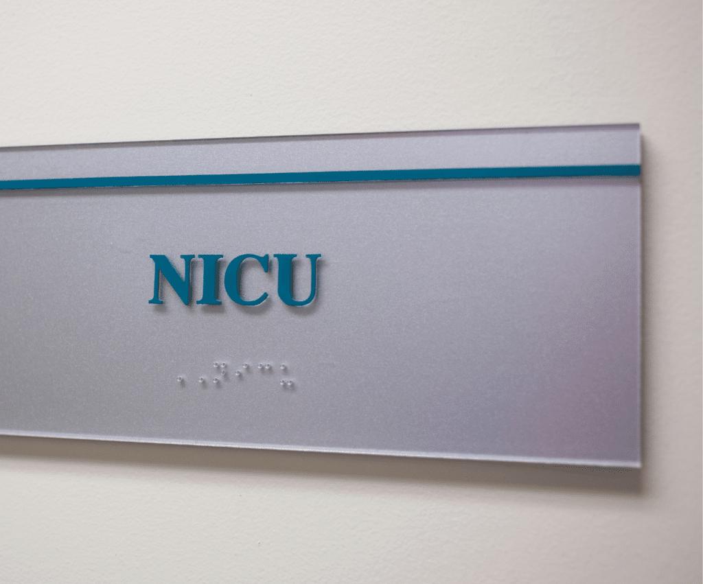 NICU sign