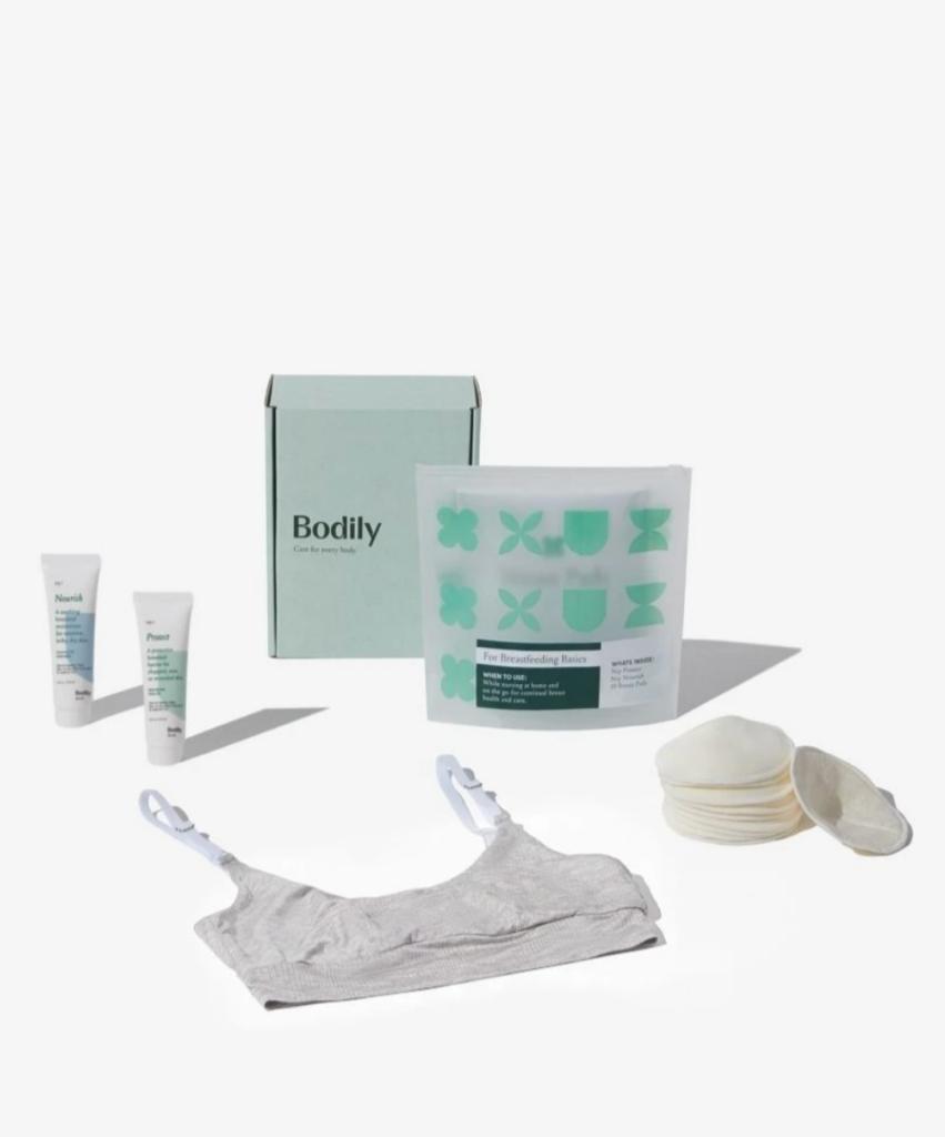 box of breastfeeding essentials from Bodily