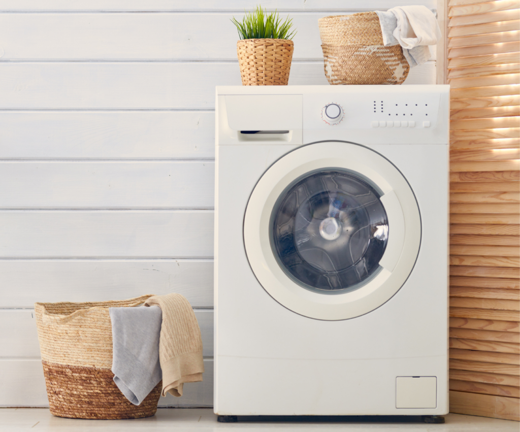 laundry room with laundry basket